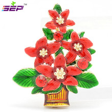 Rhinestone Crystals Christmas Tree Brooches Broach Pins Christmas Gift Women Jewelry Accessories 0641