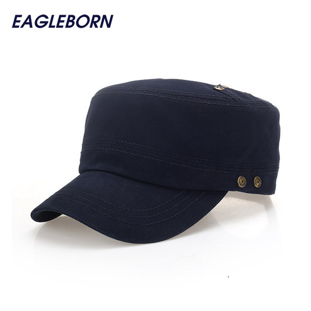 5fb0c0e57de4d5 Military Men Women Hat 2019 New Fashion Casual Solid Stylish Adults Spring  Summer Military Hats Flat Top Military Cap Adjustable