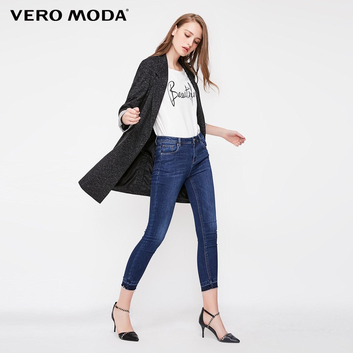Vero Moda Women's Slim Fit Medium Length Single-Button Long Jacket Blazer 318308502