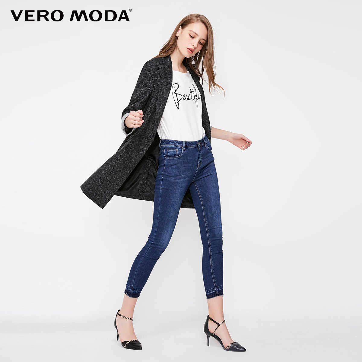 Vero Moda Женский приталенный Блейзер средней длины на одной пуговице   318308502