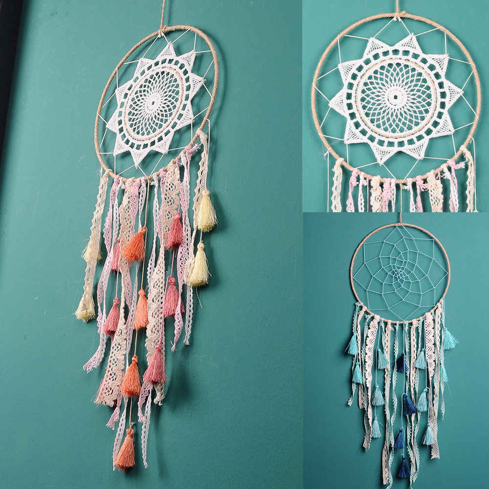 Peach Tassel Catching Monternet Large Red Dream Catcher Creative Feathers Home Pendant Decoration Wedding For Decor