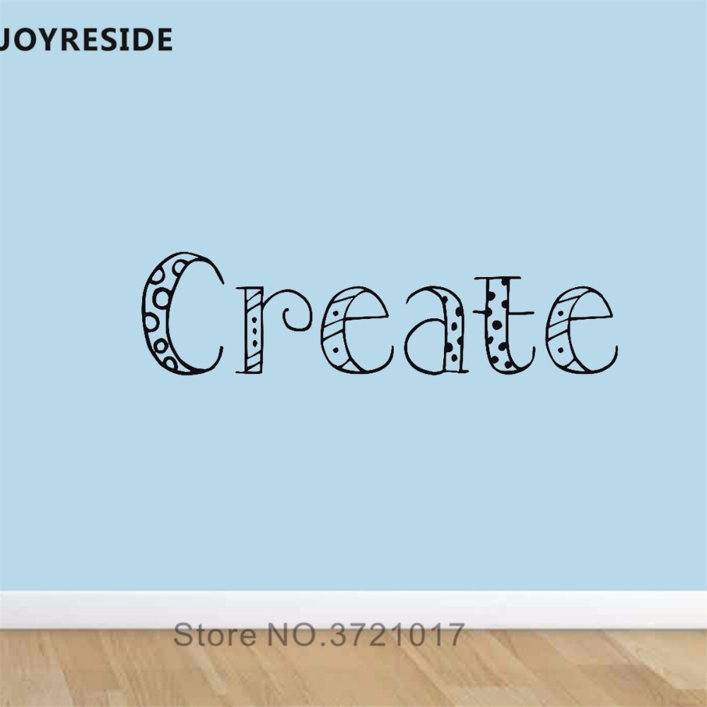 Joyreside create letter quotes wall decal art cute wall sticker words vinyl decor home children rooms decor interior design a875 in wall stickers from home