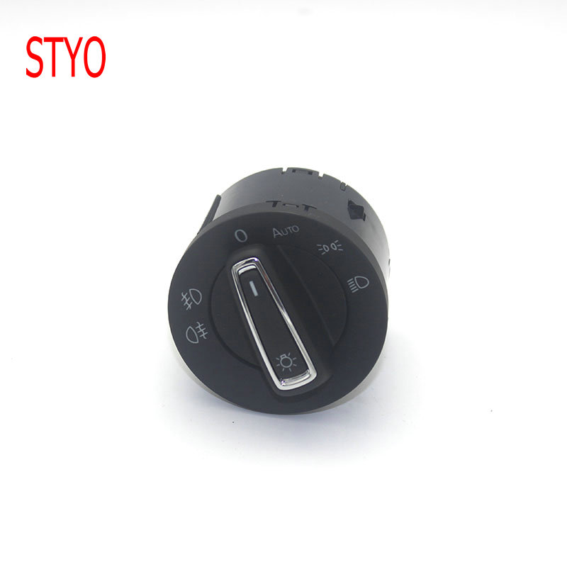 STYO Car  Chrome Headlight Switch Auto For VW MK7 golf 7 RLINE Tiguan Touran  POLO 5GG 941 431 D 5GG9941431D|Car Switches & Relays|   - title=