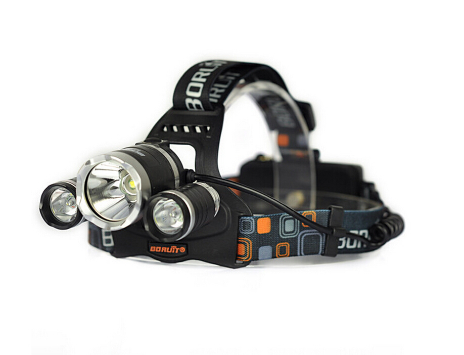 LED Headlight 3*T6 6000LM CREE XM-L T6 LED Headlamp Head Bike Lamp Outdoor Lights + 2* 18650 Battery+Charger+Car Charger yp 3006 500lm 3 mode white headlamp w cree xm l t6 black silver 1 2 x 18650