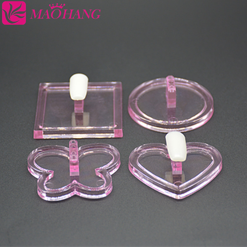 1pc Nail Art Heart Shaped Acrylic Tips 3D Design Practice Training Display Stand Holder Showing Shelf Manicure Tools