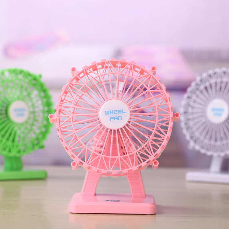 Portable Mini USB Ultra Quiet Fan Creative Home Furnishing Desk ABS Aromatherapy Fan Silent Desktop Aromatherapy