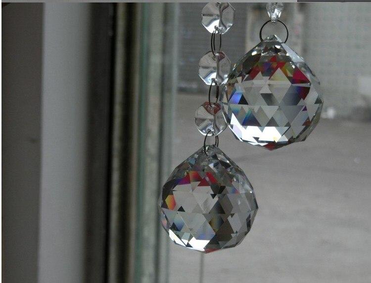 Livraison gratuite 1 pcs/Lot 100 MM boule à facettes suspendue en cristal pour cadeau de décoration de mariage - 3