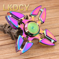 LKDCY EDC Toys Professional Tri Spinner Fidget Mode Hand Wheel Torqbar Brass Fidget Wheel And Adhd