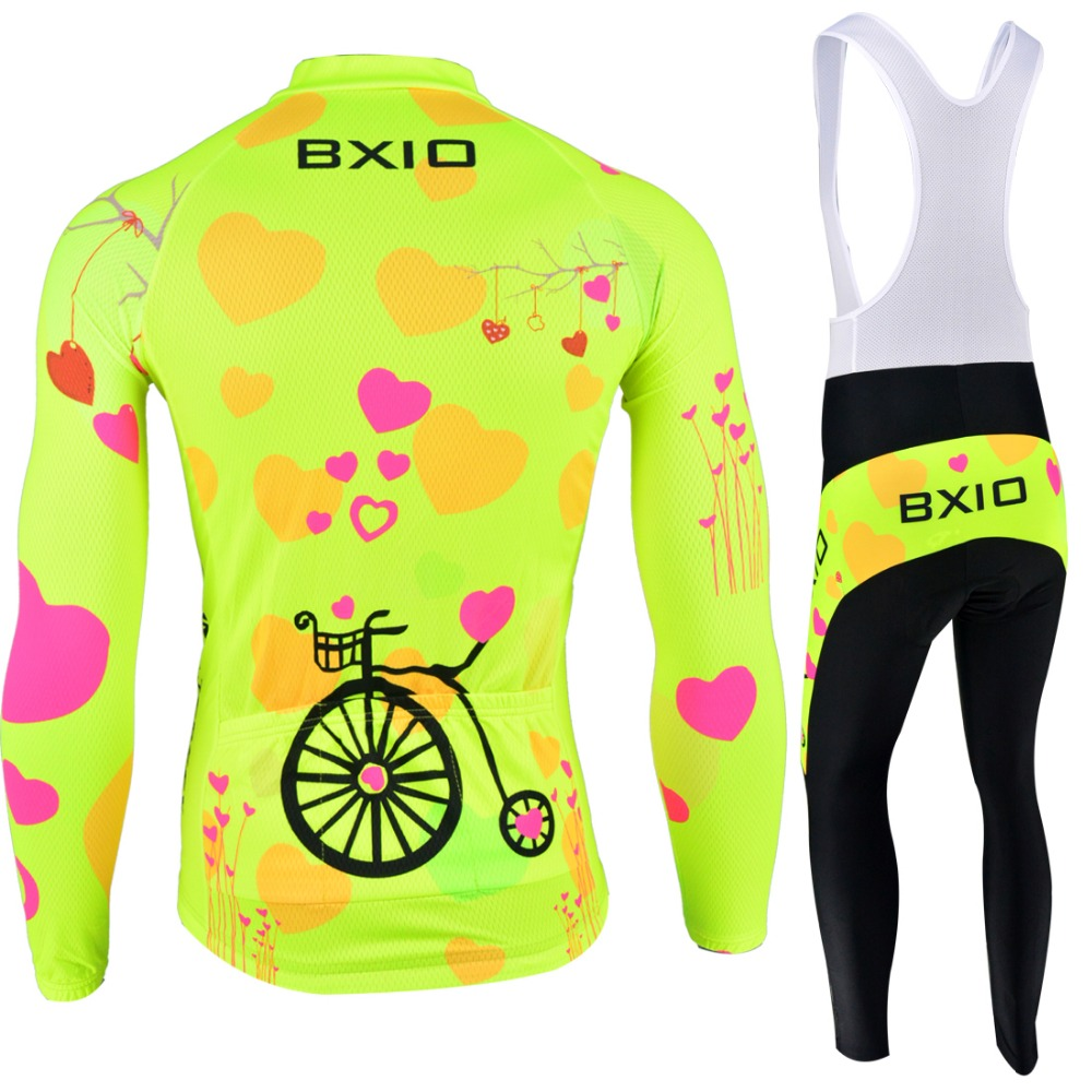Image 2 - BXIO 2019 Pro Winter Thermal Fleece Woman Cycling jerseys Sets MTB Wear Bike Wear Clothing Ciclismo Long Sleeve Bicycle 125-in Cycling Sets from Sports & Entertainment