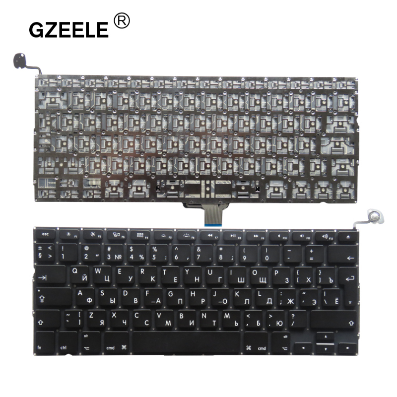 GZEELE New For Apple Macbook Pro A1278 MC700 MC724 MD313 MD314 MC700 RU Russian Laptop Keyboard 2009-2012 Without Frame 13.3