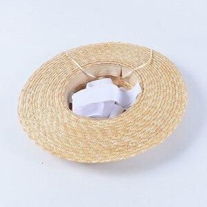 Image 5 - USPOP ฤดูร้อนหมวกผู้หญิงหมวกภาษาฝรั่งเศสคำสไตล์กว้าง brim หมวก Casual ธรรมชาติข้าวสาลีฟางหมวก LACE Up หมวกชายหาด Shade