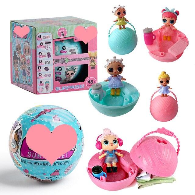 Забавные игрушки 10 см LOL кукла случайный Наряжаться маленьких разорвать Цвет Изменение Яйцо Куклы Серия 2 в шары игрушечные лошадки для Обувь для девочек фигурки