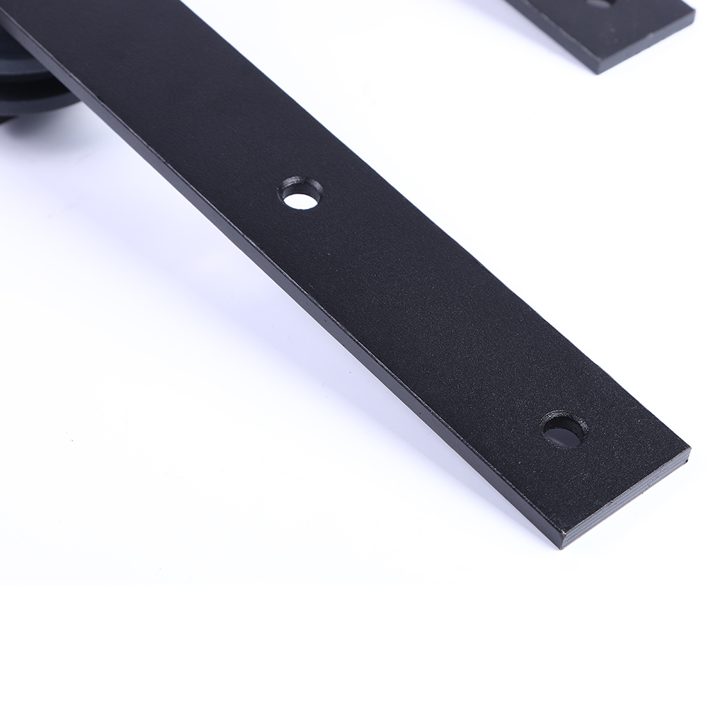 LWZH Industrial Style 13FT/14FT/15FT Sliding Barn Door Steel Hardware Kit Closet Door Hardware J-Shaped Hangers for Double Door