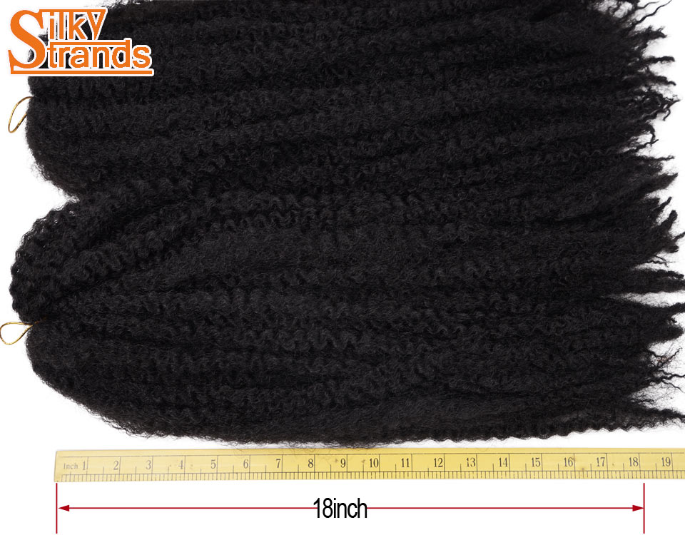 Mèches Synthétique Tresses Afro Crépus Crochet 18 Pouces