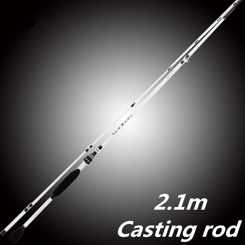 ФОТО Mavllos Carbon Spinning Casting fishing Rod lure 2.1M Spuerhard  Carbon Casting Rod Hard Spinning rods 2Section Abu fishing Rod