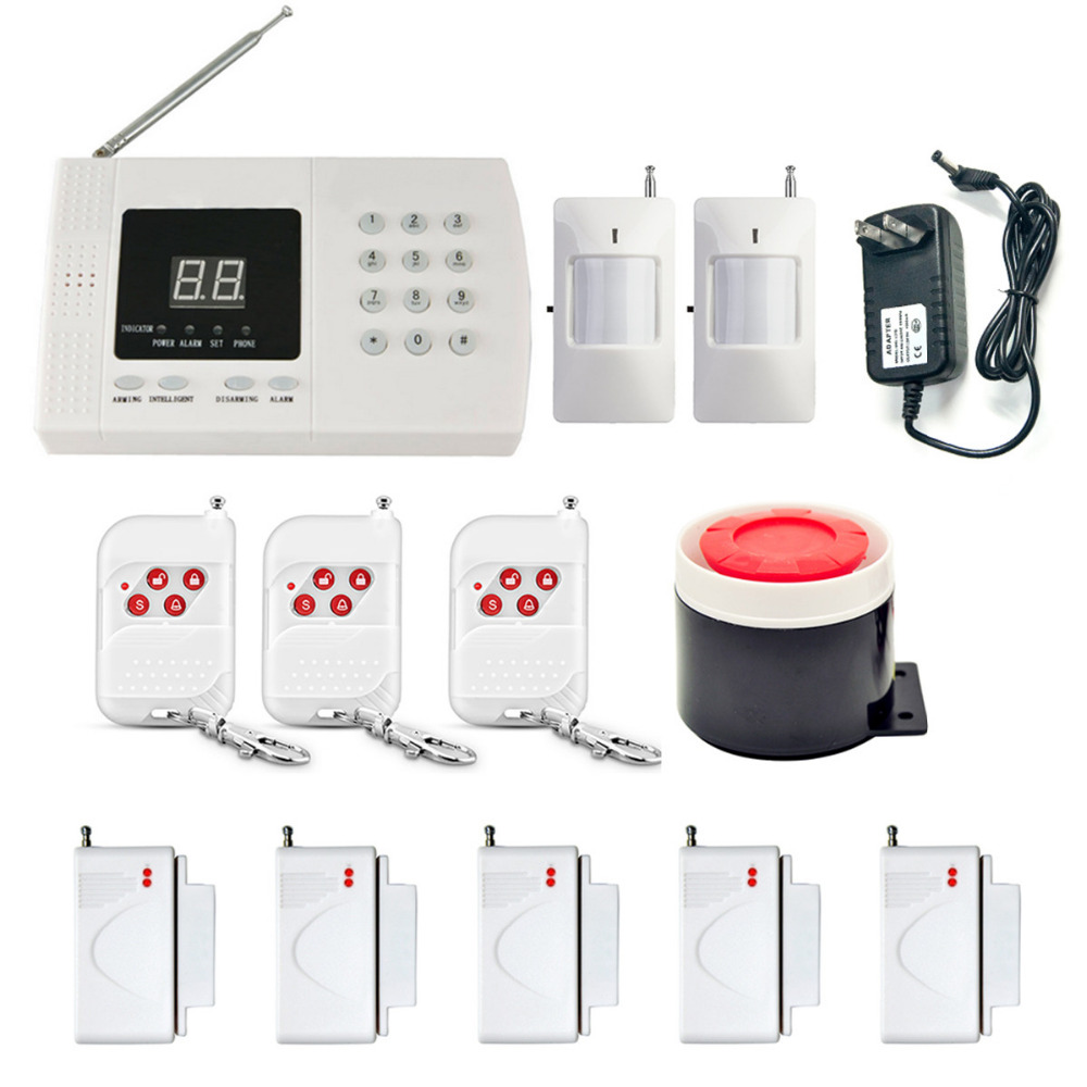 DANMINI Wireless GSM Alarm System For Home Security System PIR Door Sensor Antenna Burglar Alarm Home Alarm System Signaling gsm tower antenna direction control system