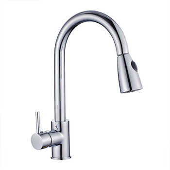 Brass Kitchen Faucet Brushed Silver Bathroom Basin Faucets Black Finish Single Handle Hole Mixer Water Taps Deck Mount Pull Out