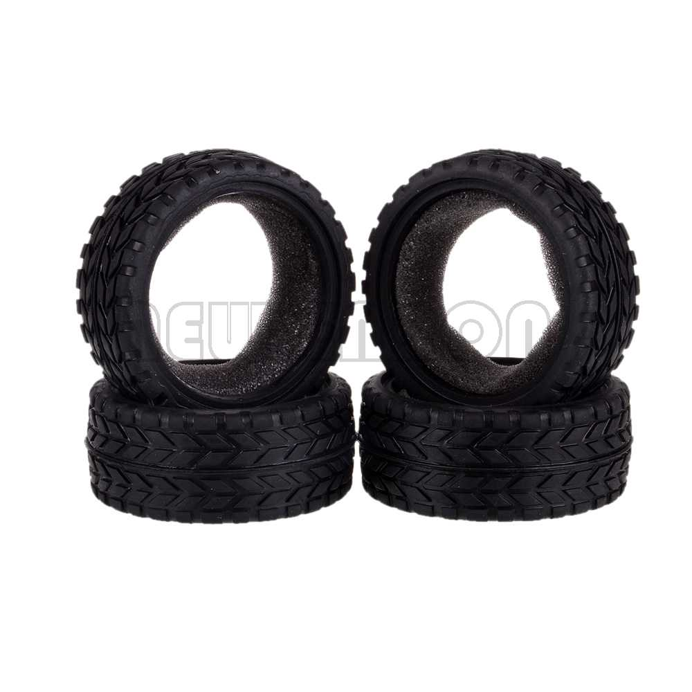 4PCS On-road Car 26MM Rubber Tyre High Grip Tires 6017 RC 1/10 mxfans 4x black rc 1 10 on road car rubber fish scale tyre