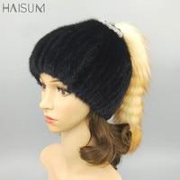 Winter fur fur mink fur hat lady mink warm thick ear cap MZ22