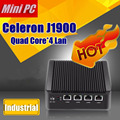 Eglobal mini pc j1900 quad core 4 intel gigabit lan firewall wg82583 multi-função de roteador de rede 12 v mini computador desktop