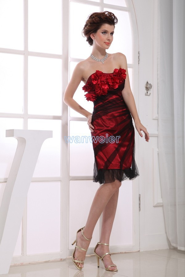 free shipping vestidos formales 2016 new high quality designer bride maid   dresses   short red and black sexy party   evening     dresses