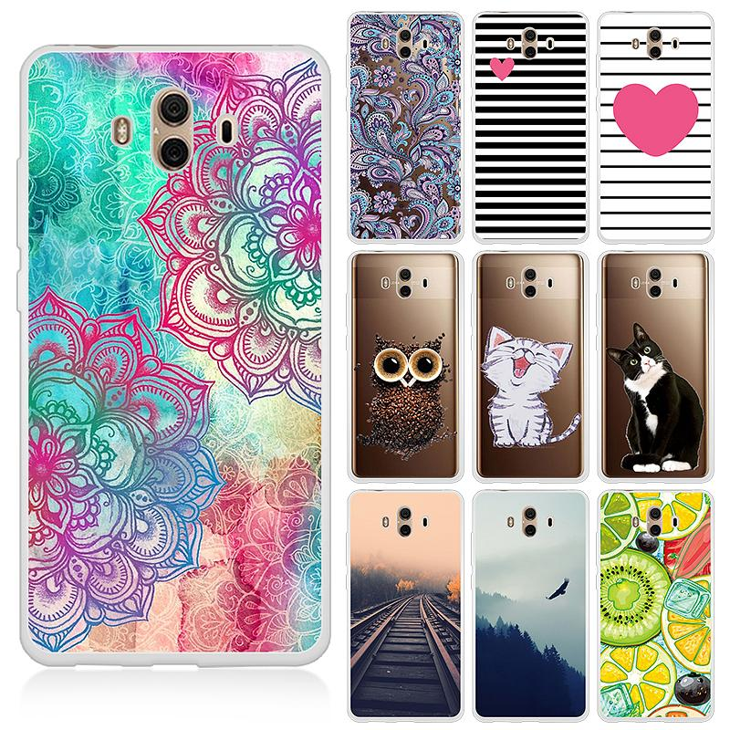 Lovely Cats Painted TPU Case For Huawei P20 Lite Mate 10 Pro P10 Plus P9 P8 Lite Y5 Y3 Cute Pattern Cover For Honor 8 10