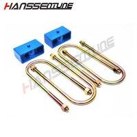 HANSSENTUNE 4x4 suspension 2 inch rear lift kit leveling u bolt blocks for RANGER T6 BT50 2012 on