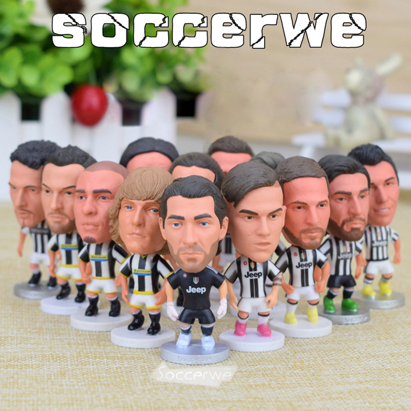 13PCS + Display Box Soccer Juventus Player Star Figurine 2.5