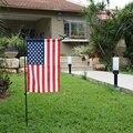 Garten Fahnen Pole Mini Eisen Flagge Stehen Halter Für Hof Dekorative Display Pol Fliegen Metall Fahnen Banner Zubehör-in Outdoor-Werkzeuge aus Sport und Unterhaltung bei