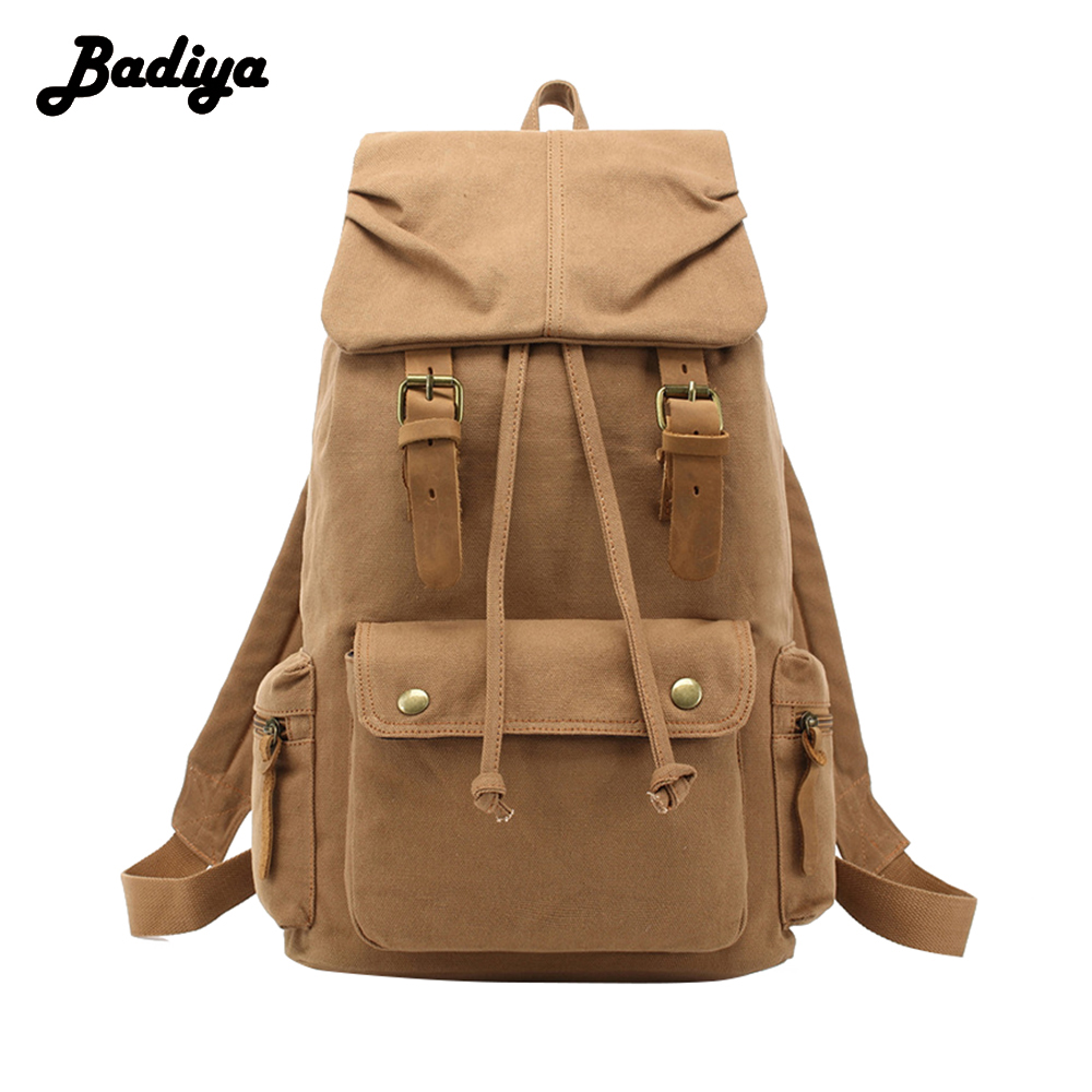 Retro Rucksack Canvas Backpack Leisure Travel Schoolbag Unisex Laptop Backpacks Men Backpack Male coofit 3 in 1 multifunction unisex backpack bagpack retro canvas laptop backpacks for women men travel daypack shoulder bag