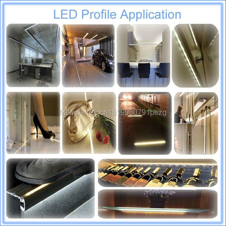 luz Linear luz Profunda U-forma led carcaça