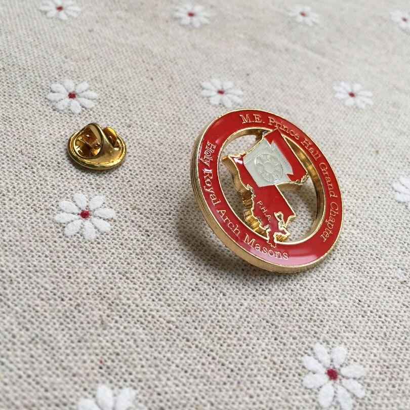 US $6 99 |m e  prince hall grand chapter holy royal arch masons p h a lapel  pin freemasonry masonic pin badges enamel brooches souvenir-in Pins &