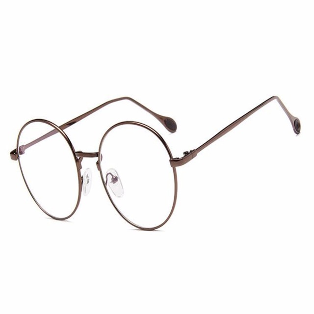 58644f9242c7 Retro Round Frame Glasses Protection Eye Fashion Vintage Spring Hinge Clear  Lens glasses For Women Men Nerd Computer Eyeglasses
