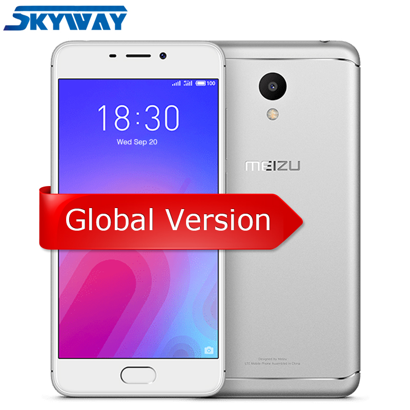 Global Version Meizu M6 2GB RAM 16GB ROM Octa Core MTK6750 Mobile Phone 5.2 inch 13.0MP Rear Camera 3070mAh Fingerprint ID