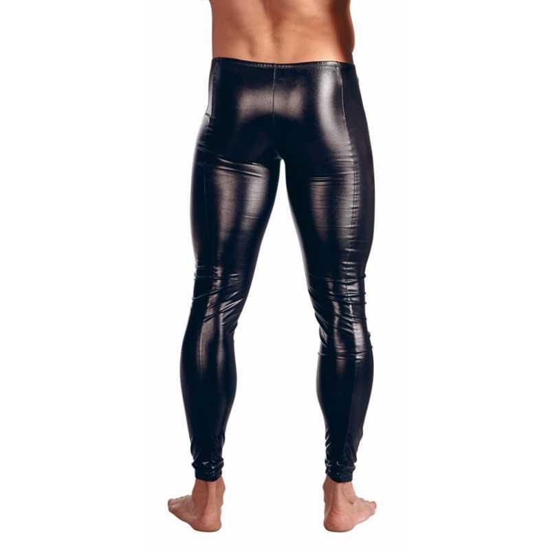 CFYH размера плюс нижнее белье мужские Леггинсы Брюки сценическое Сексуальное белье для мужчин латексная искусственная кожа ПВХ гей Клубная танцевальная одежда
