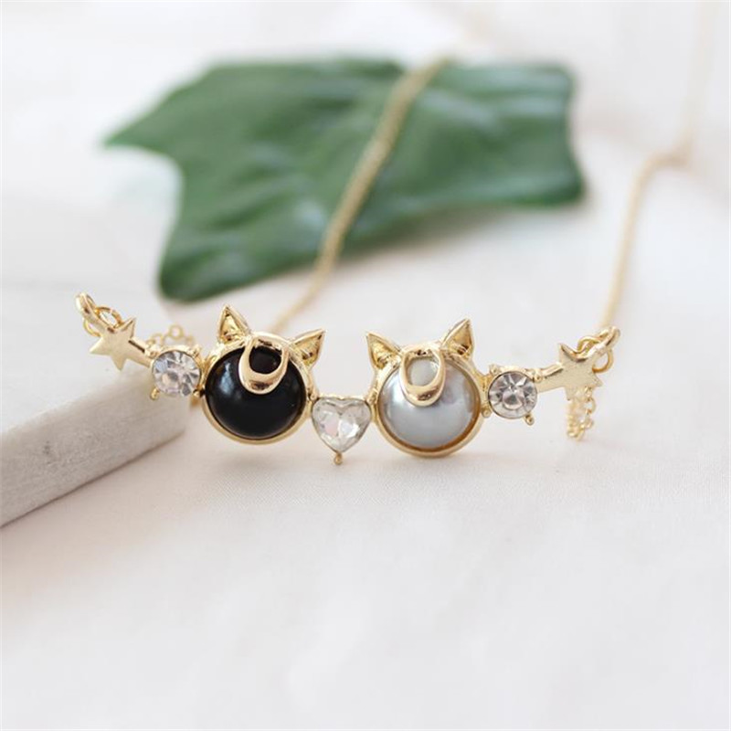 Cat Necklace Jewelry Source Factory Wholesale Japanese Girl Warrior Excited Meng Luna Clavicle Female Motivation