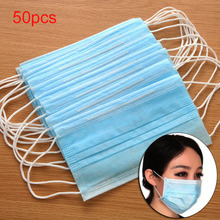 50 pcs/set Adults Portable Disposable Medical Earloop Anti-Dust Protective Face Mask Outdo