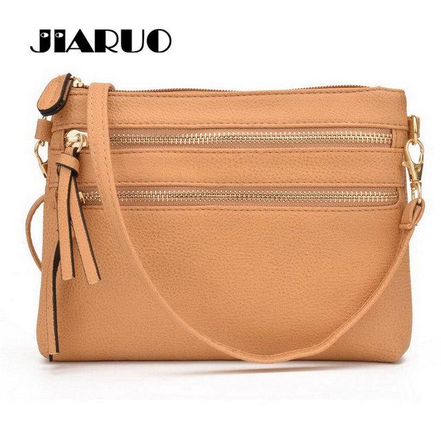 96b49acac1a1 JIARUO Fashion Multi Zipper Pocket Women Small Mini Shoulder messenger  Crossbody Bag Ladies Satchel Handbag Cellphone Pouch