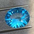 Luz topázio azul Trillion Cut natural Flawless topaz pedra solta para pingente anel 4.5 ct peso 10*12 milímetros tamanho