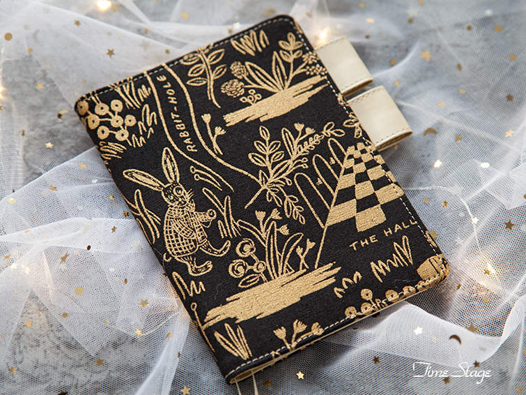 The Mystery Garden Golden And Black Design Floral Softcover Journal Cover For Hobonichi A5The Mystery Garden Golden And Black Design Floral Softcover Journal Cover For Hobonichi A5