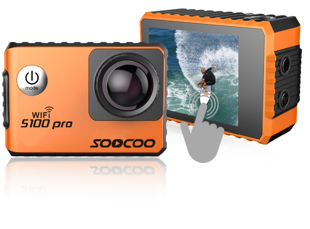 SOOCOO S100 Pro 4K 24fps 2K 30fps Wifi Touch Screen Action Camera 1080P Full HD Gyro Waterproof Outdoor Mini Sport Camcorder DV soocoo s100 pro 4k wifi action video camera 2 0 touch screen voice control remote gyro waterproof 30m 1080p full hd sport dv