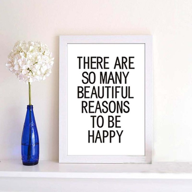 a3 inspirational quotes canvas painting print poster frame not