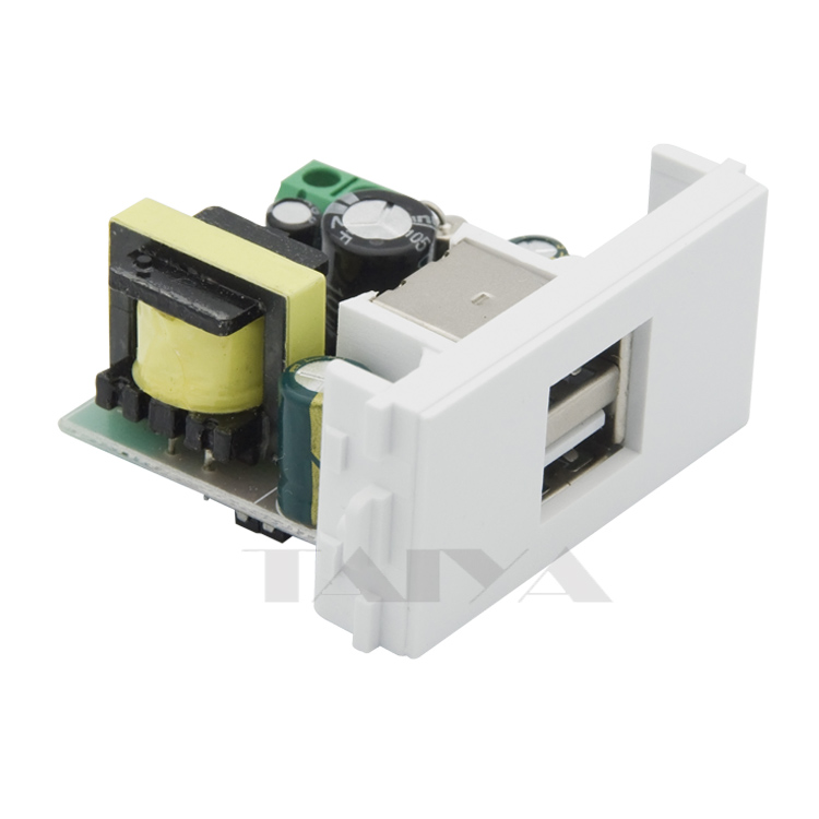 Dual Ports 220V USB Charge Connector Wall Plate