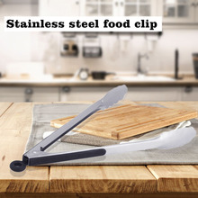 12 inch Non-Slip Stainless Steel Fried BBQ Tongs Salad Bread Clamp Meat Ice Food Clip Barbecue Tools Silicone Cover Handle
