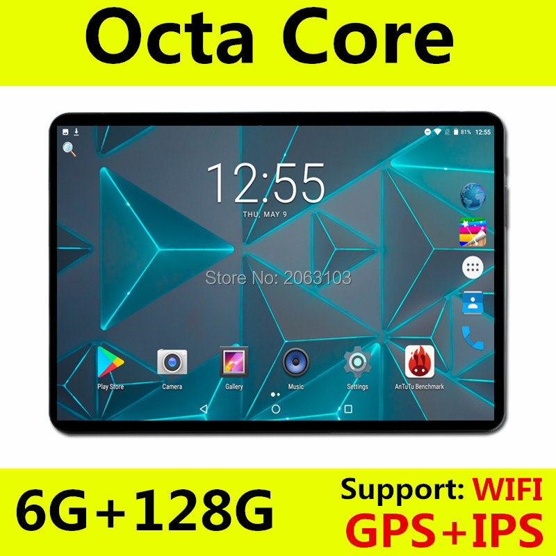 BOBARRY 2019 New 10 Inch Tablet PC 3G 4G LTE Android 8.0 Octa Core 6GB RAM 64GB 128GB ROM WiFi GPS 10.1 IPS 1280*800+Gifts