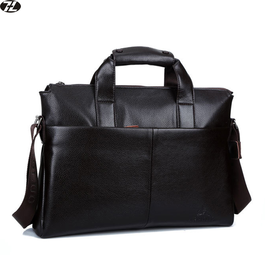 fa4ef33105 men leather briefcase genuine leather handbags tote business men messenger  bags brand men shoulder Laptop crossbody bags black