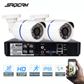 Saqicam 4CH CCTV Camera System 720P 1080N CCTV DVR 2PC 1200TVL IR Waterproof Outdoor Security Camera Home Video Surveillance kit