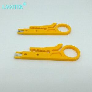 Image 3 - 100 pçs/lote mini portátil fio stripper faca crimper alicate ferramenta de friso cabo descascamento fio cortador multi ferramentas corte linha