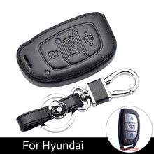 Car Key Case Leather Smart Remote Cover Keychain Protect Bag