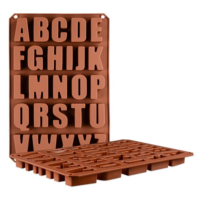 brixini.com - 26 English Alphabet Letter Chocolate Mold